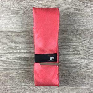 JF J. Ferrar Satin Coral Pink Narrow Tie